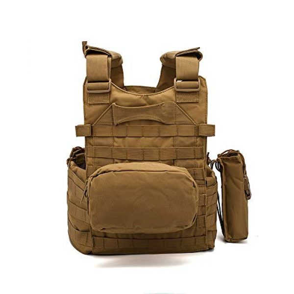 BGJ Airsoft Tactical Vest 3 Men 6094 Multicam Camo Tactical Vest Molle Modular Body Ammo Airsoft Paintball Combat Military Hunting Vest Clothes Accessories