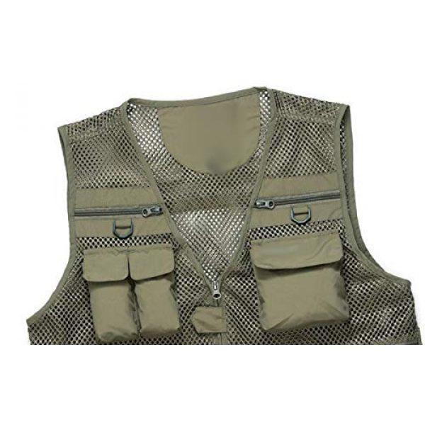 DAFREW Airsoft Tactical Vest 7 DAFREW Thin Vest Men's Outdoor Vests Casual Fishing Breathable Vests Summer Quick-Drying Vest (Color : Khaki, Size : L)