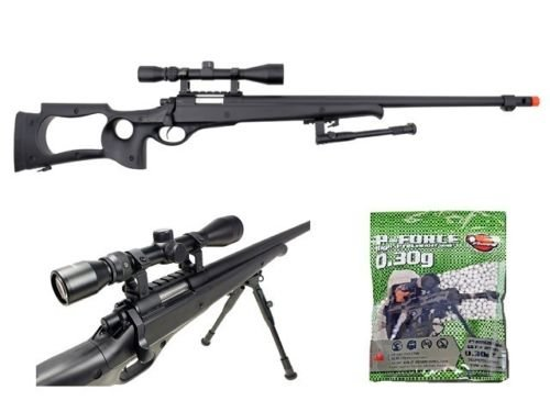 Well  1 Well AWN G22 heavy single bolt action sniper airsoft rifle with 3