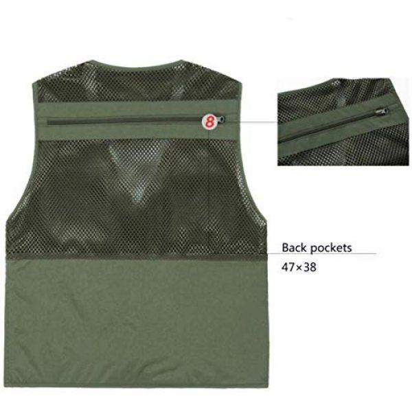 DAFREW Airsoft Tactical Vest 6 DAFREW Thin Vest Men's Outdoor Vests Casual Fishing Breathable Vests Summer Quick-Drying Vest (Color : Khaki, Size : L)
