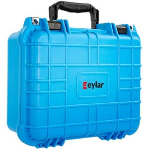 Eylar Pistol Case 1 Eylar Tactical Hard Gun Case Water & Shock Proof with Foam 13.37 inch 11.62 inch 6 inch Light Blue
