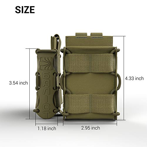 ATAIRSOFT  2 ATAIRSOFT KOLCHAN Fast MAG Mini Pouch 5.56mm 7.62mm 5.45mm Top Open Magazine Pouches Airsoft Hunting Equipment Holder Very Durable of 1000 D Cordura fastmag Holster and MOLLE Compatible