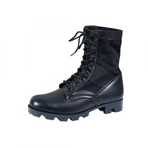 Rothco Combat Boot 1 Mens G.I. Style Jungle Boots, Black, 10 Wide