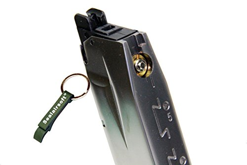 WE  2 WE 30rds P226 Airsoft Gas Magazine for P Viruses GBB Pistol (Silver) -Mobile Ring Included