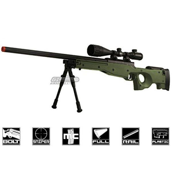 Bravo! Airsoft Rifle 1 Bravo Full Metal MK98 Bolt Action Sniper Rifle (OD/Bipod Package)