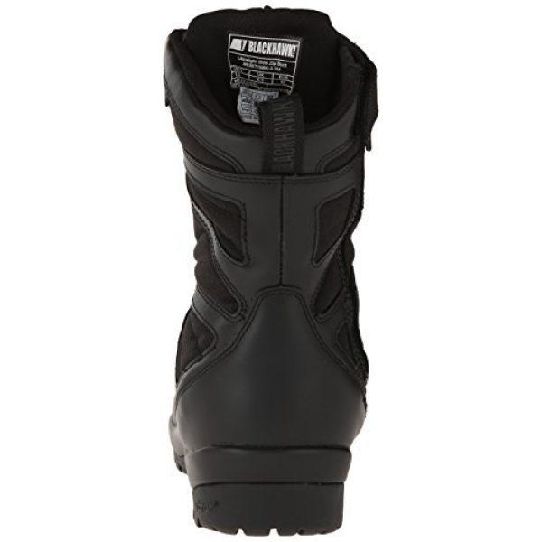 BLACKHAWK Combat Boot 3 BLACKHAWK 83BT19BK-140M Ultralight Side Zip Boot, Medium/Size 14, Black