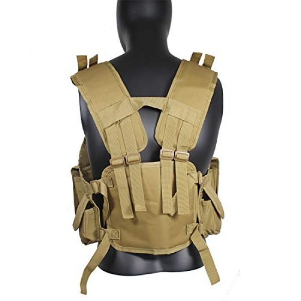 Yoghourds Airsoft Tactical Vest 4 Yoghourds Tactical Vest for Men Airsoft Guns Vest Adjustable Outdoor Combat Training Vest Ultra-Light Breathable for Adults in Hunting Fishing CS Field