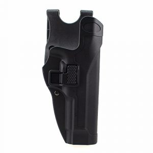 PG Airsoft Gun Holster 1 PG Tactical Gun Holster Hunting Beretta Pistol Holster Level 2 Right Hand Extended Paddle Waist Belt Pistol Bag for Beretta M9 M92