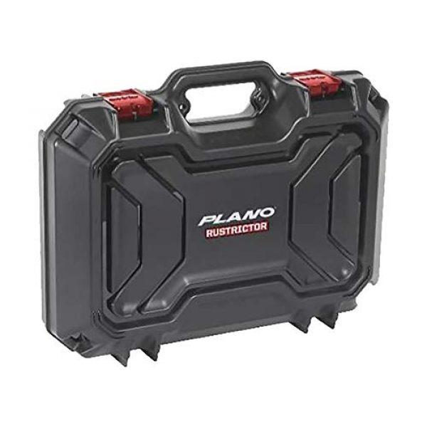 Plano Pistol Case 1 Plano Rustrictor Defender Two Pistol Case   All-Weather Anti-Rust Double Pistol Case