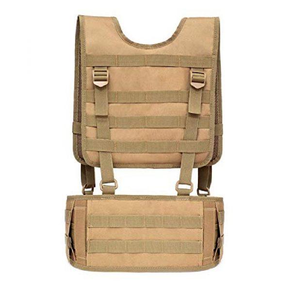 BGJ Airsoft Tactical Vest 1 Combat Molle Pals Tactical Waist Belt Combat Removable Waist Battle Padded Belt H-Shaped Suspender Harness Airsoft Wargame Vest