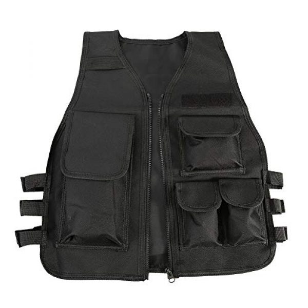 Aufee Airsoft Tactical Vest 1 Child Vest, 4 Colors Nylon CS Game Armor Vest Solid and Wear Resistant,with Side Hook and Loop Straps,Suitable for Children at Age of 8-14
