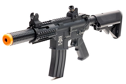 Black Ops  1 Black Ops SR4 CQB AEG Rifle - Electric Fully Automatic Airsoft Gun - .20 .25 BBS