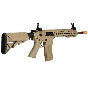 Lancer Tactical  1 Lancer Tactical LT-12TK M4 Key Mod 10 inch AEG Metal Gear Metal Gear Airsoft Rifle Gun