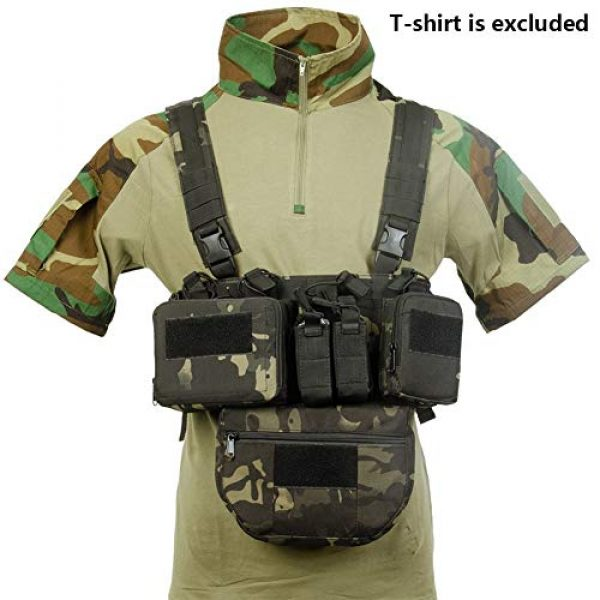 Redland Art Airsoft Tactical Vest 1 Redland Art CS Match Wargame TCM Chest Rig Airsoft Tactical Vest Military Pack Magazine Pouch Holster Molle System Waist Men Nylon Airsoft Tactical Vest