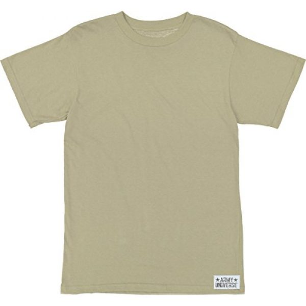 Army Universe Tactical Shirt 1 Desert Tan/Sand Military T-Shirt, Cotton Army ACU Uniform Tee with Official Pin
