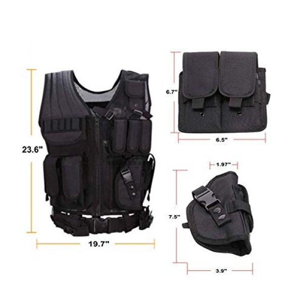 NEW VIEW Airsoft Tactical Vest 6 New View Tactical Vest Multi-Function Combat Training Suit with Multiple Pockets for 600D Encryption Nylon