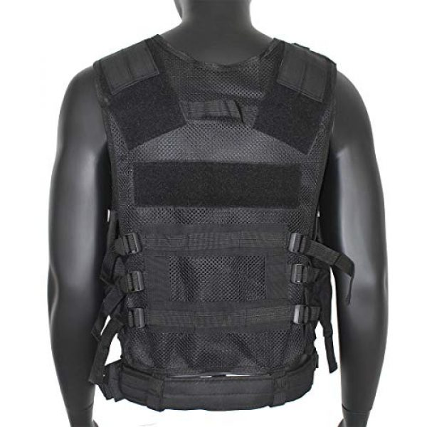Yoghourds Airsoft Tactical Vest 4 Yoghourds Adjustable Breathable Vest, Ultra-Light Tactical Vest for Men for Hunting/Fishing/CS Field Operations/Cosplay