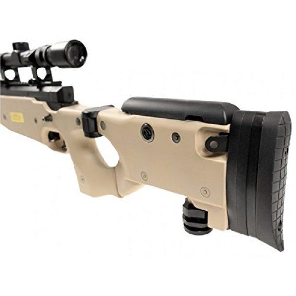 Well Airsoft Rifle 3 Well mb08d l96 spring airsoft gun metal sniper fps-450 w/ 3-9x40 scope & bipod (tan)(Airsoft Gun)