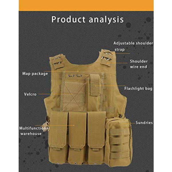 BGJ Airsoft Tactical Vest 2 BGJ Tactical Vest Military Combat Armor Vest Mens Army Airsoft Hunting Vest Adjustable Outdoor CS Paintball Training Protective Vest