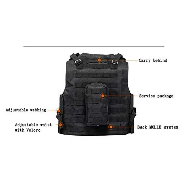HAOWUTX Airsoft Tactical Vest 3 HAOWUTX Multifunctional Tactical Vest for Outdoor Camping, Hunting, Fishing, Hiking, Airsoft War Game CS (Color : Green)