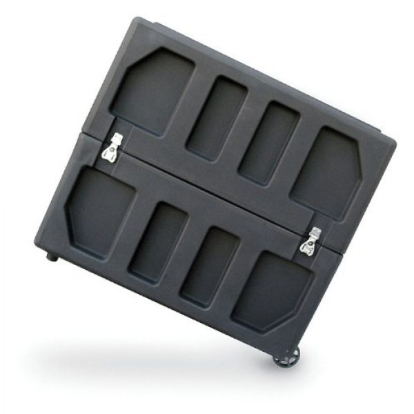 SKB Pistol Case 6 SKB Equipment Case, Roto-Molded LCD Case fits 20 - 26 Screens, Universal Foam Pad Set