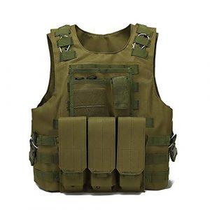 WEQ Airsoft Tactical Vest 1 WEQ Tactical Vest Outdoor Amphibious Vest Ultra-Light Breathable Combat Training Vest Adjustable for Adults(Standard Size) (Color : #D)