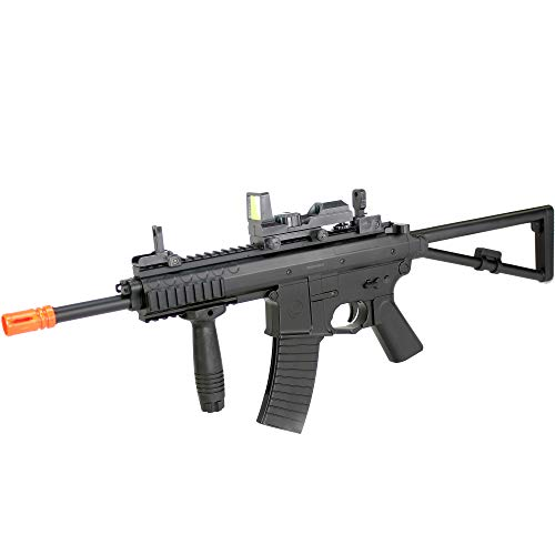 BBTac Airsoft Rifle 3 BBTac Airsoft Gun Package - Black Ops - Collection of Airsoft Guns - Powerful Spring Rifle, Shotgun, Two SMG, Mini Pistols and BB Pellets, Great for Starter Pack Game Play