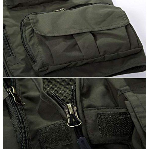 DAFREW Airsoft Tactical Vest 6 DAFREW Casual Vest Outdoor Photography Vest Four Seasons Fishing Travel Vest Grid Vest (Color : Khaki, Size : L)