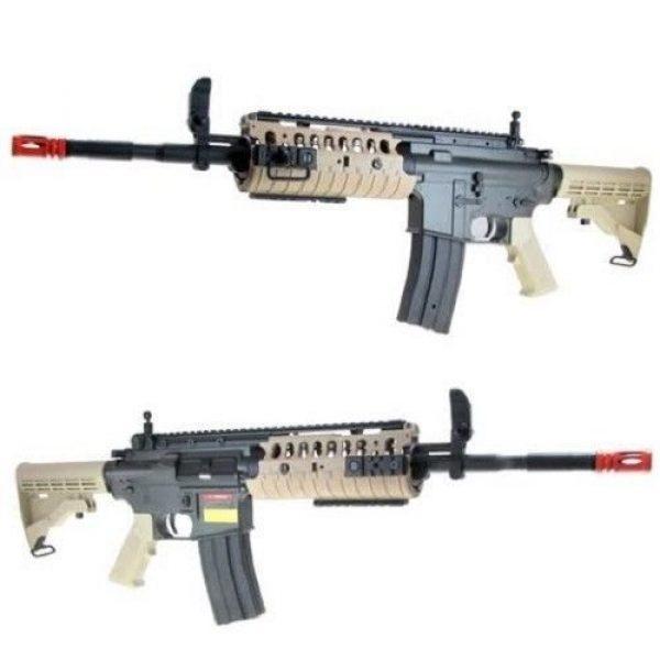 Jing Gong (JG) Airsoft Rifle 3 jing gong w4 metal gb aeg airsoft gun, extra mag, google's, 4350 bb's combo -tan(Airsoft Gun)
