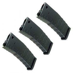 Generica Airsoft Gun Magazine 1 Generica Airsoft Spare Parts APS 3pcs Hi-Cap U Mag Magazine for FMR/ASR/UAR/M4 Series AEG Black