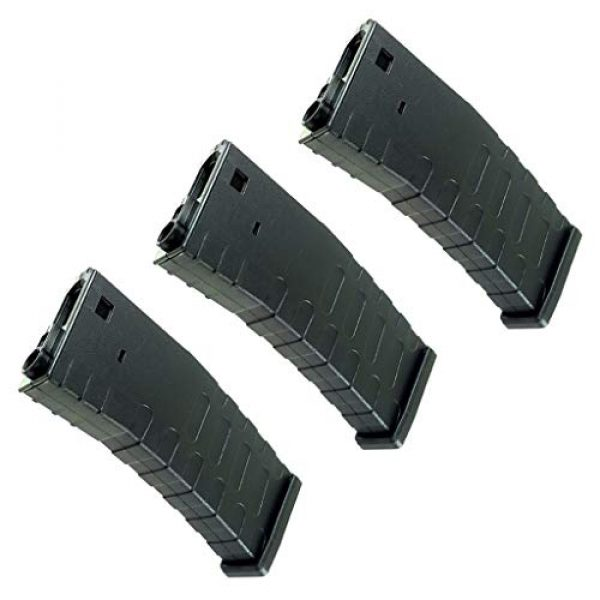 Generica Airsoft Gun Magazine 1 Generica Airsoft Spare Parts APS 3pcs Hi-Cap U Mag Magazine for FMR/ASR/UAR/M4 Series AEG Black