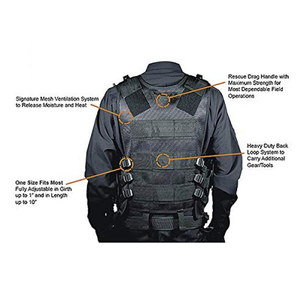 OURLITIME Airsoft Tactical Vest 4 OURLITIME Airsoft Tactical Vest, Tactical Vest Multi-Pocket SWAT Army CS Hunting Vest Camping Hiking Accessories Outdoor Hunting Hiking Camping Equipment