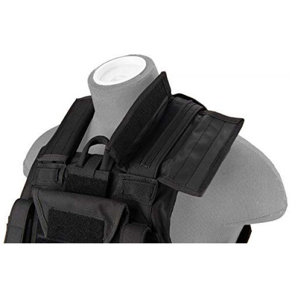 Lancer Tactical Airsoft Tactical Vest 5 Lancer Tactical 1000D Nylon Airsoft Combat Training Tactical Strike Assault Vest Black Adjustable