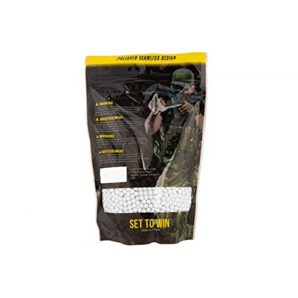 Lancer Tactical Airsoft BB 2 Lancer Tactical Bio-Tracer 0.20g Airsoft BBS White 5000 ct
