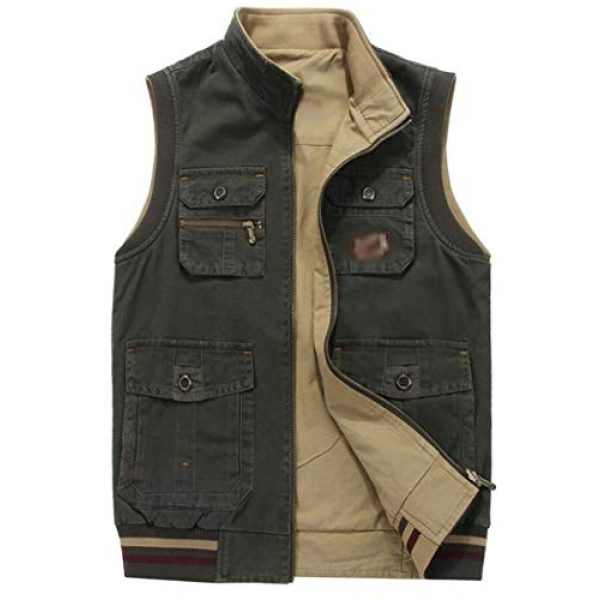 DAFREW Airsoft Tactical Vest 1 DAFREW Vest,Double-Sided wear Sleeveless Jacket Multi-Pocket Fishing Vest Jacket Wearing Vest Casual Jacket (Color : Army Green, Size : XXXL)