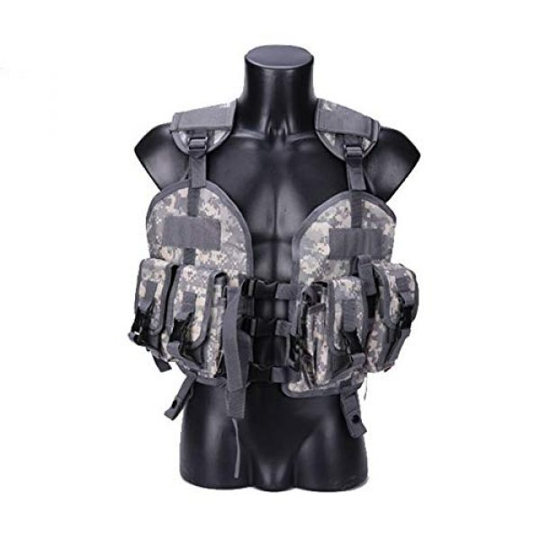 Shefure Airsoft Tactical Vest 1 Shefure The Seal Men Tactical Hunting Armor Vest Combat CS Wargame Military Camouflage Waterproof Water Bag Pouches Tactical Gear