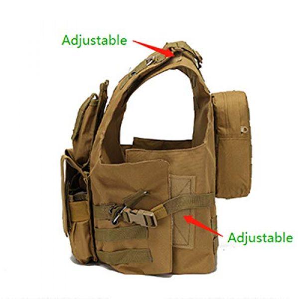 Jipemtra Airsoft Tactical Vest 2 Jipemtra Tactical MOLLE Airsoft Vest Adjustable Paintball Combat Training Vest Detachable (Black)