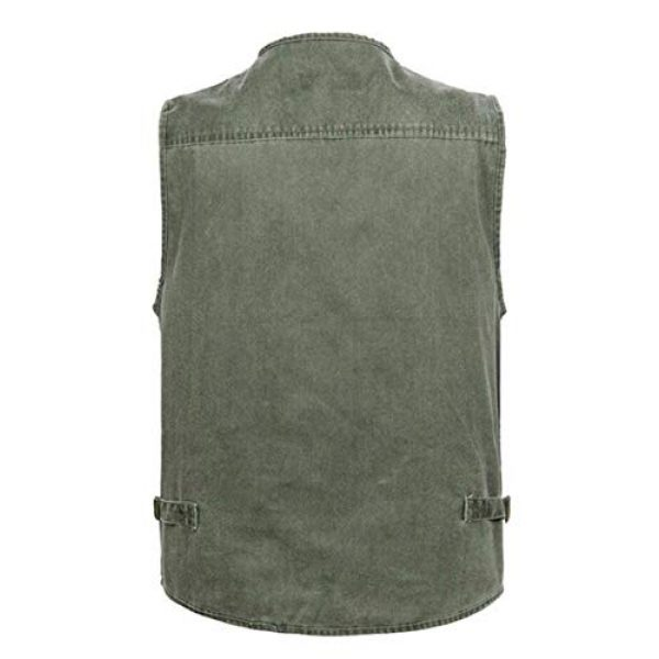 DAFREW Airsoft Tactical Vest 2 DAFREW Four Seasons Vest Middle-Aged Vest Multi-Pocket Vest Outdoor Leisure Fishing Vest (Color : Army Green, Size : L)