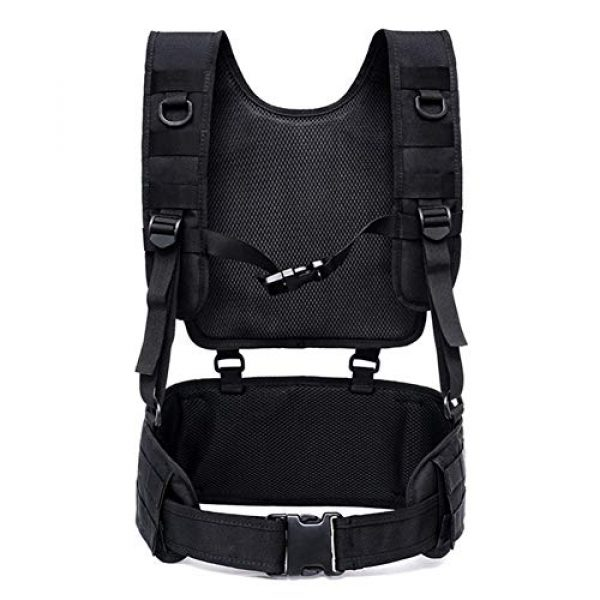 Shefure Airsoft Tactical Vest 3 Shefure Tactical H-Harness Waist Battle Belt Suspenders Hunting Molle Vest Chest Rig
