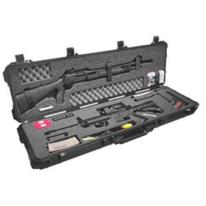 Case Club Rifle Case 1 Case Club 3 Gun Competition Pre-Cut Waterproof Case with Accessory Box and Silica Gel to Help Prevent Gun Rust (Gen 2)