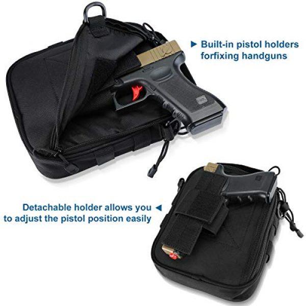 Kosse Pistol Case 5 Kosse Pistol Bag, Military Gear Tactical Handgun Shoulder Strap Bag Gun Ammo Accessories Pouch Shooting Range Duffle Bag for Shooting Range Sport