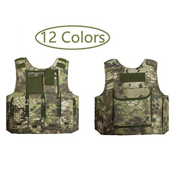BGJ Airsoft Tactical Vest 4 BGJ Military Kids Camouflage Hunting Clothes CS Combat Equipment Tactical Army Vest Children Cosplay Costume Airsoft Sniper Uniform