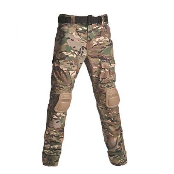 Military Ba Tactical Shirt 1 Men's Tactical Combat Shirt and Pants Set Long Sleeve Multicam Woodland BDU Hunting Military Uniform 1/4 Zip