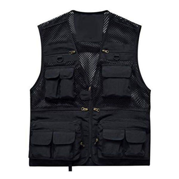 DAFREW Airsoft Tactical Vest 1 DAFREW Men's Vest Summer Fashion Breathable Sleeveless Shirt Quick-Drying Jacket Outdoor Leisure Multi-Function Vest (Color : Black, Size : XL)