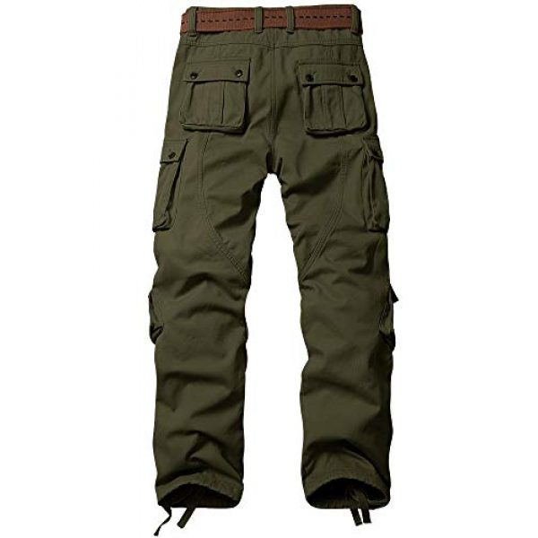TRGPSG Tactical Pant 2 Men's Cotton Wild Cargo Pants Military Army Camouflage Casual Work Combat Hiking Trousers with 8 Pockets