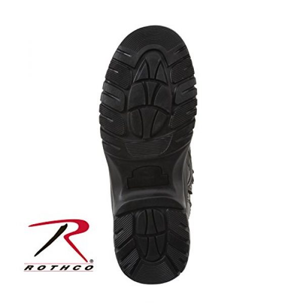 Rothco Combat Boot 4 Forced Entry 5053 Black Tactical Boots for Police, EMS w/Side Zipper