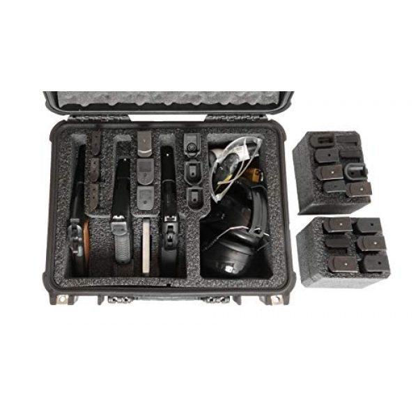 Case Club Pistol Case 3 Case Club 3 Pistol & Accessory & Up to 23 Magazines Pre-Cut Waterproof Case with Silica Gel to Help Prevent Gun Rust (Gen 2)