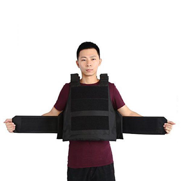 Alomejor Airsoft Tactical Vest 7 1Pc Vest Wear-Resistant Adjustable Vest Guard Waistcoat CS Field Training Protective Vest Campus Accessory