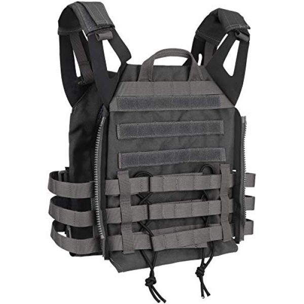 LEJIE Airsoft Tactical Vest 4 Lejie Tactical CS Field Vest Outdoor Hunting Training Airsoft Protective MOLLE Vest for Adults Adjustable