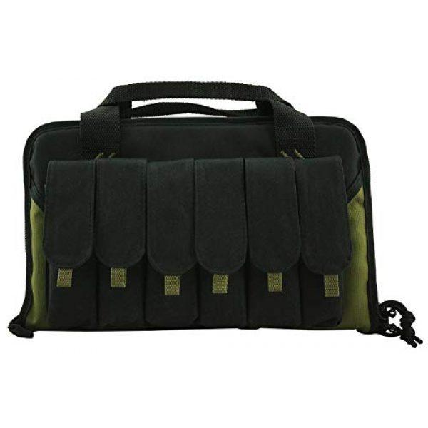 K-Cliffs Pistol Case 3 K-Cliffs Pistol Case Lockable Memory Foam Handgun Storage Pouch Carrying Bag   6 Magazine Pockets Black/Olive